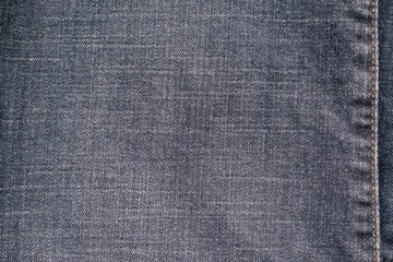texture denim with the stitched seam