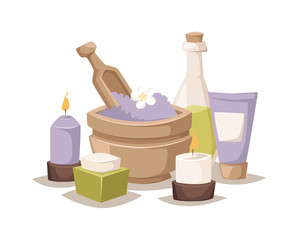 Spa aroma vector icons.