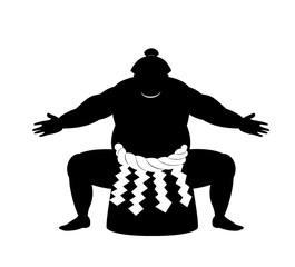 japanese Sumo wrestler .vector art