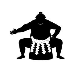 japanese Sumo wrestler .vector art