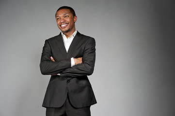 Happy Black Male In A Suit
