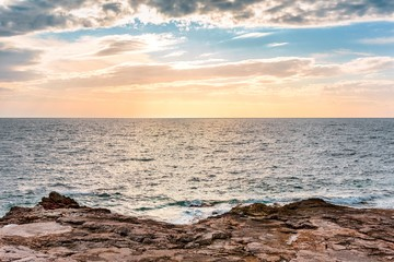 Beautiful landscape with sea and clouds