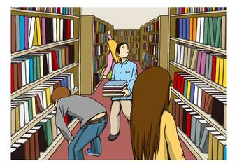 〝図書館〟のイメージイラスト