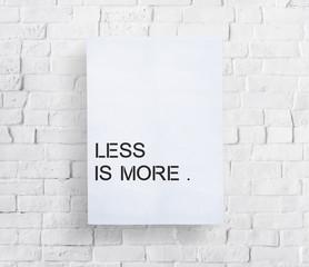 Fototapeta Less is More Minimal Simplicity Easiness Plainness Concept obraz