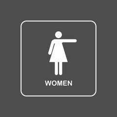 Toilet WC door wall plate.