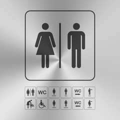 Toilet WC door wall plate.