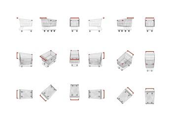empty supermarket carts