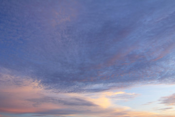 Natural background of the colorful sky and cloud, During the time sunrise and sunset