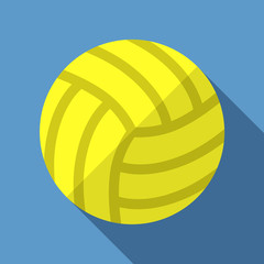 Vector illustration. Icon of toy leather volleyball ball in flat design with shadow effect