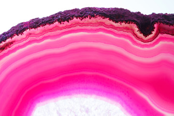 Abstract backgground - pink agate slice mineral