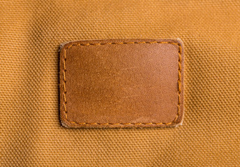 Blank leather label