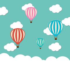 Vector hot air ballon icon