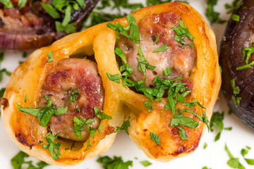 Wrapped dough sausages.