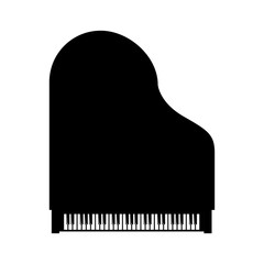 Vector black grand piano top view