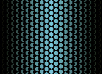 Abstract background with hexagons. Pattern decreasing from the center to the edges.