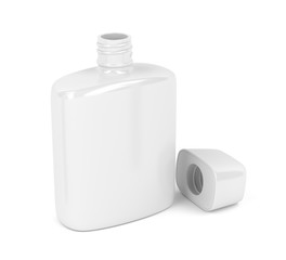 Aftershave lotion on white