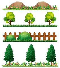 Seamless rocks and fences