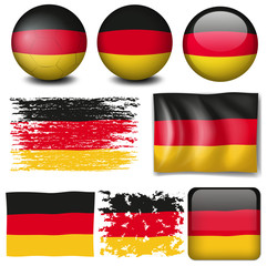 Germany flag on different items