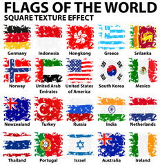 Poster design with flags of the world