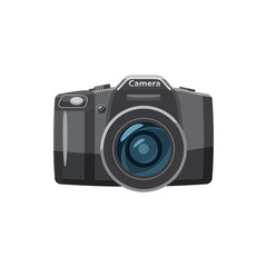 Photo camera icon, cartoon style