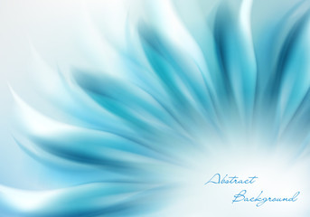 Abstract Background wiht Blue Flower and Place for Your Text