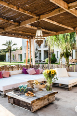 Spectacular terrace of a modern home