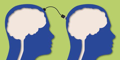 Cerveau - connexion - clé USB