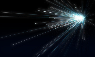 Abstract background simulating an explosion in space