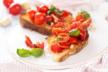 Italian food. Bruschetta.