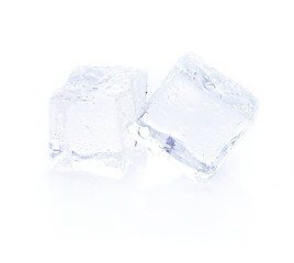 ice cube isolated on white background