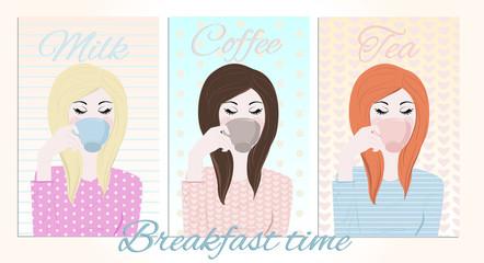 Breakfast Time_Girls having breakfast
