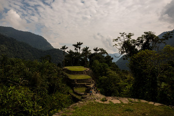 Ciudad Perdida in Colombia's tropical rainforest