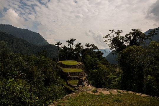 Ciudad Perdida in Colombia's tropical rainforest