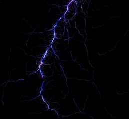 Fractal lightning illustration.