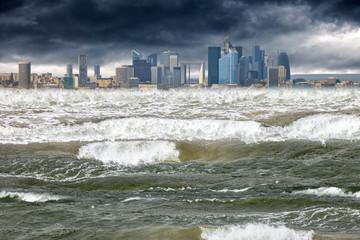 Apocalyptic scene tsunami