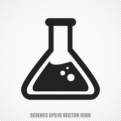Science vector Flask icon. Modern flat design.