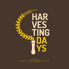 Vector illustration of harvesting Days