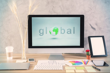 Global network and frame