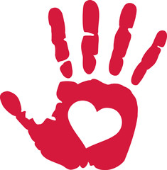 Handprint Heart Clipart Photos, illustrations ...