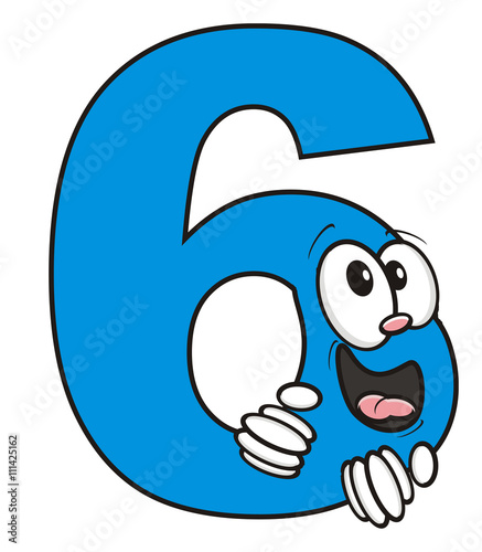 6 Letter Cartoon Characters : Quot six date math arithmetic symbol number preschool