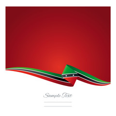 Abstract color background saint kitts and nevis flag vector