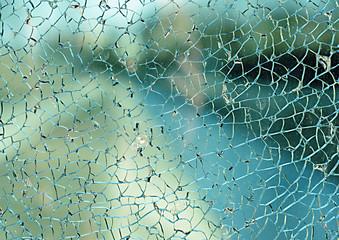 Broken glass, pęknięta szyba