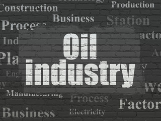 Industry concept: Oil Industry on wall background