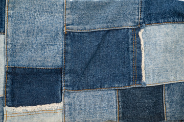 denim patchwork textile pattern