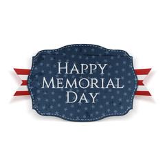 Happy Memorial Day patriotic Sign and Ribbon