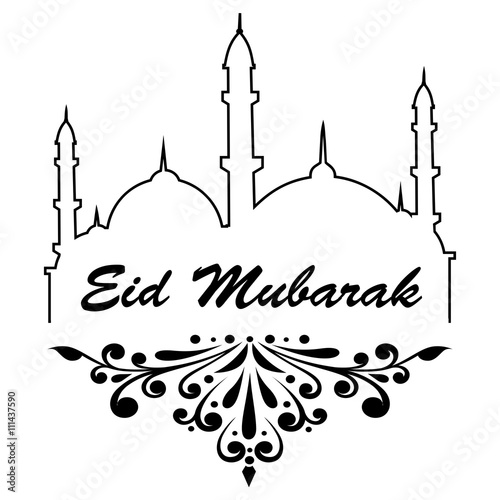 """Eid Mubarak Purple Background"" Stock image and royalty ..."