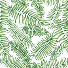 Floral palm leaf pattern Flourish spring garden seamless ornamental texture with leaves