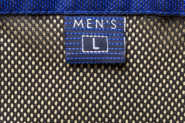 Wall Mural - Men's size clothing label