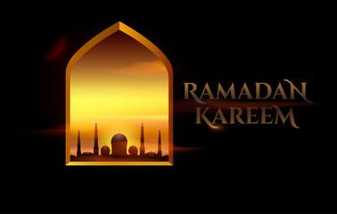 Ramadan Kareem beautiful greeting card for holy month
