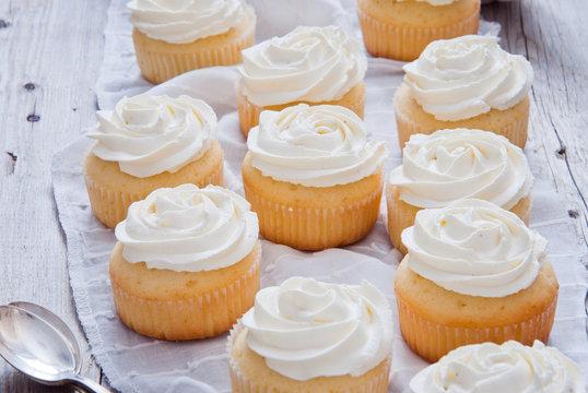 Homemade Vanilla Cupcakes